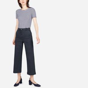 Everlane Wide Leg Crop Navy Pants